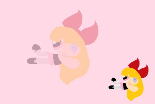 Blossom (powerpuff girls) Hintergrund called Lineless Blossom