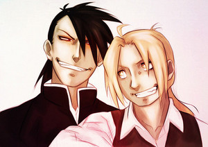 Ling / Greed and Edward Elric