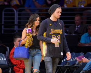Lucy @ Lakers Game in LA - April 13th