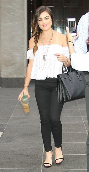 Lucy leaving fox & Friends Studios in New York - July 1st