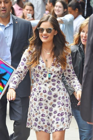 Lucy leaving the Good Morning America studios - June 30th