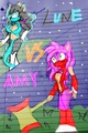 Lune VS Amy (colored and crappy background)