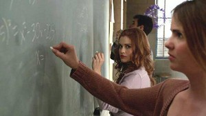 Lydia and Malia in maths