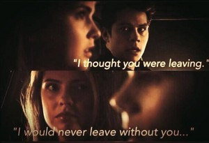 Malia and Stiles. So cue.