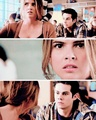 Malia growls at stiles