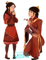 Mama Mai showing little honora her cool weapons - mai-and-zuko photo