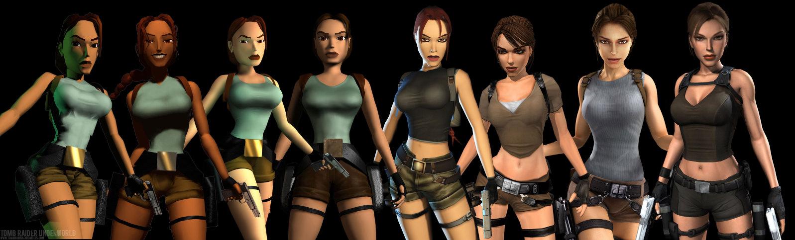 Many Changes of Lara Croft