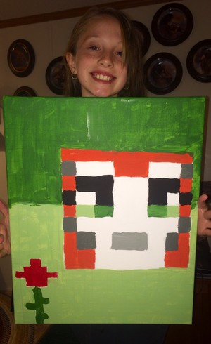 Me and my painting of stampycat