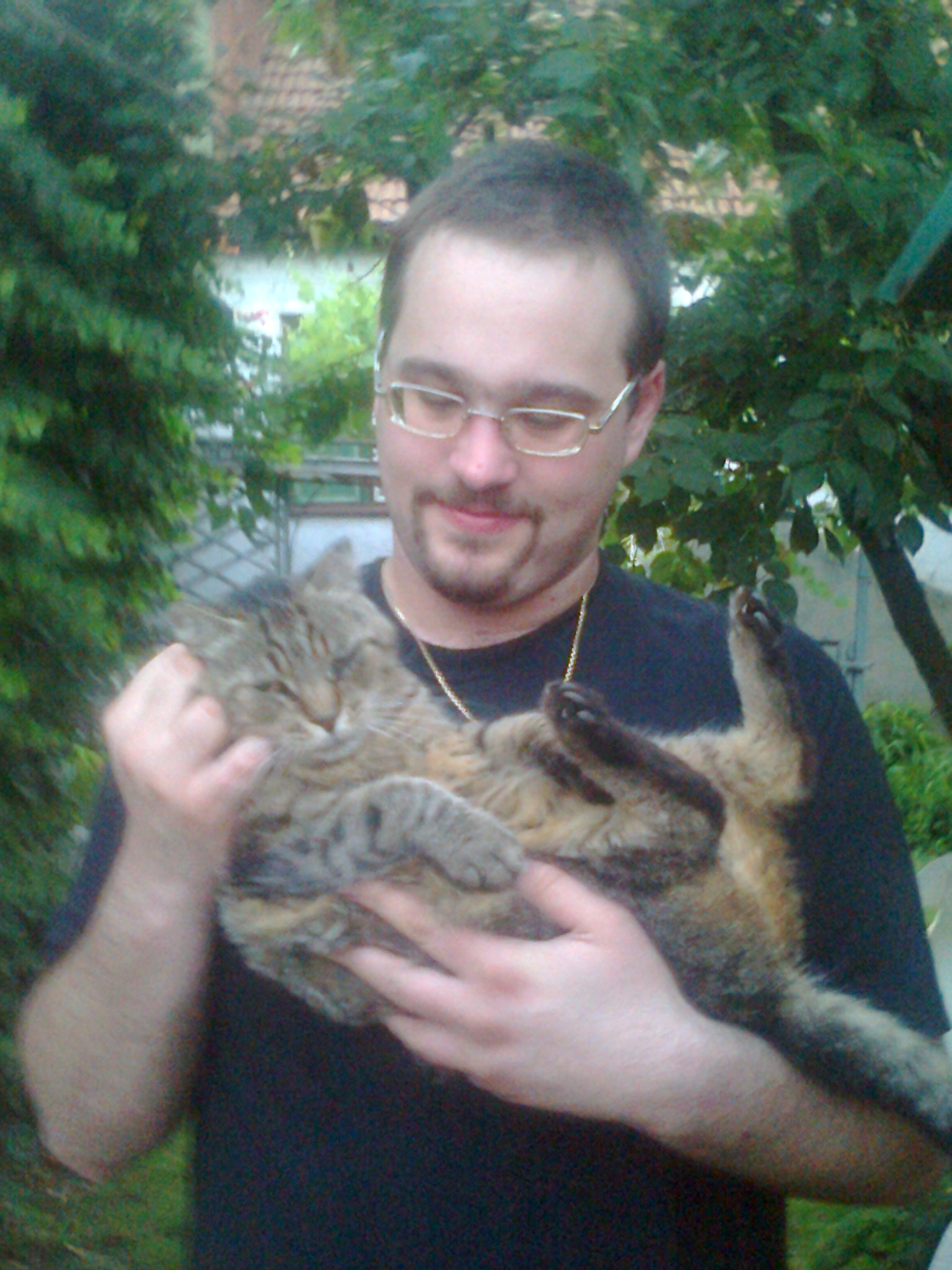 Me with my friend's huge cat