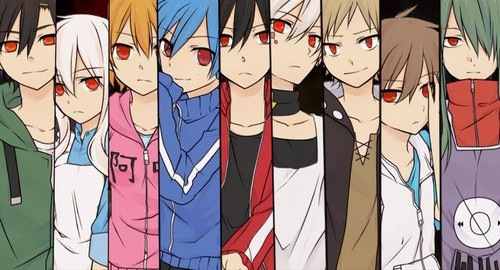 Mekaku City Actors Hintergrund possibly with Anime called Mekaku City Actors