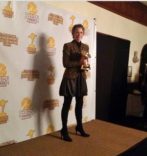 Melissa McBride winning the Saturn Award for Carol!