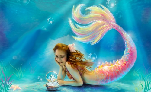 Fantasy Hintergrund entitled Mermaid