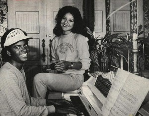 Michael And Older Sister LaToya, At The 피아노