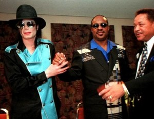 Michael And Stevie Wonder