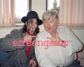 Michael And The Legendary British-Born Comedian, Benny Hill - michael-jackson photo