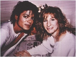 "Michael Jackson And Barbra Streisand On The Set Of ""Captain Eo"""