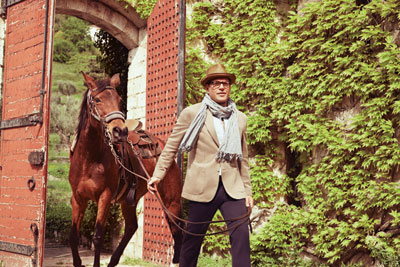 Michael Weatherly wallpaper with a horse trail, a racehorse, and a horse wrangler called Michael Weatherly// CBS Watch Magazine 2014