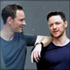 James McAvoy and Michael Fassbender photo probably with a portrait entitled Michael and James