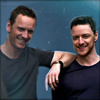 James McAvoy and Michael Fassbender photo probably containing a portrait entitled Michael and James