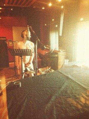 Mike in their studio.