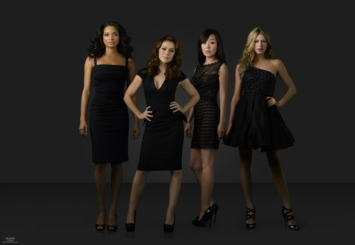 Alyssa Milano wallpaper probably containing a playsuit called Mistresses - Season 2 - Promos