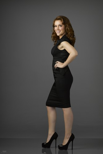 Alyssa Milano kertas dinding possibly containing a leotard, tights, and a stok entitled Mistresses - Season 2 - Promos