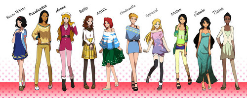 disney princesas wallpaper titled Modern dia Princesses
