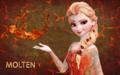 Molten/lava Elsa