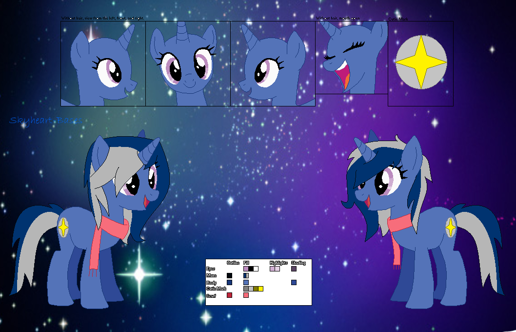 Moonglade Official Reference Sheet My Little Poni Pony La