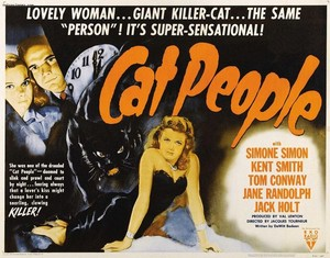 """Movie Poster For The 1942 Horror Film, """"Cat People"""""""