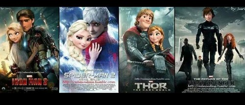 Rise of the 겨울왕국 메리다와 마법의 숲 라푼젤 용 바탕화면 possibly containing 아니메 entitled Movie Ship Au's