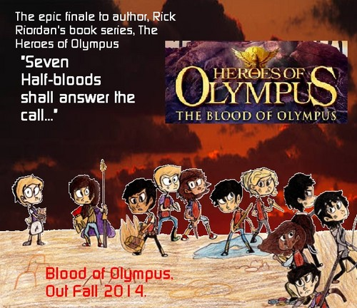 The Heroes of Olympus Series wallpaper with anime entitled My Unofficial BoO book Poster