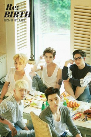 NU'EST секунда group teaser image for 'Re:BIRTH'