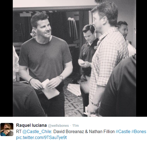 Nathan Fillion wallpaper possibly containing a business suit and a newspaper entitled Nathan and David(June,2014)