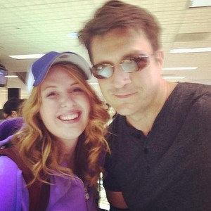 Nathan and a fan(June,2014)