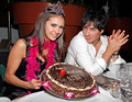 Nina with Ian on her birthday