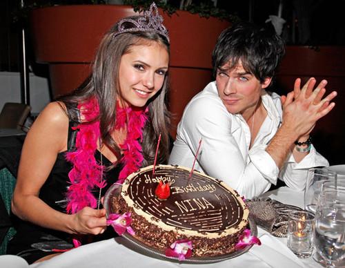Stelena vs Delena پیپر وال called Nina with Ian on her birthday