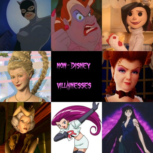 Childhood Animated Movie Villains wallpaper entitled Non-Disney Villainesses