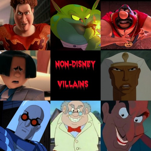 Childhood Animated Movie Villains karatasi la kupamba ukuta possibly with anime entitled Non-Disney Villains