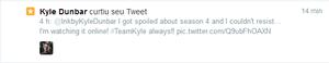Oh Lord! Kyle favorited my other tweet!!! Woohoo!!!