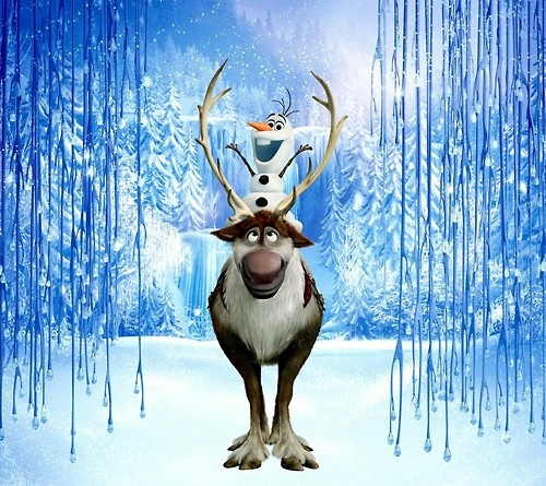 Frozen پیپر وال entitled Olaf Riding on Sven