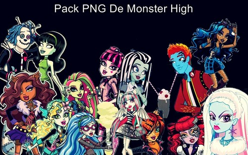 Monster High karatasi la kupamba ukuta containing anime titled Pack de Png Monster High