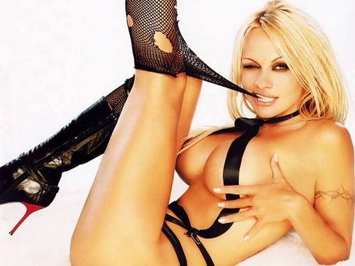 Pamela Anderson wallpaper possibly containing a bikini, attractiveness, and a lingerie entitled Pamela