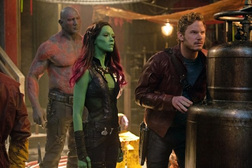 Guardians of the Galaxy 바탕화면 entitled Peter, Gamora, and Drax
