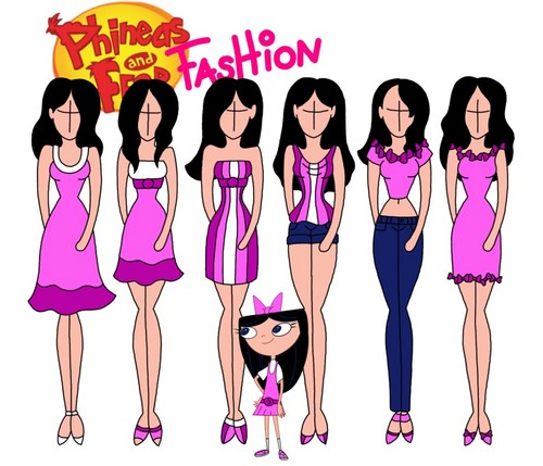 phineas e ferb wallpaper titled Phineas and Ferb fashion: Isabella