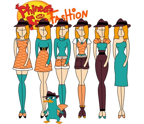Phineas and Ferb kertas dinding called Phineas and Ferb fashion: Perry