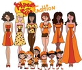 Phineas and Ferb fashion: The fireside girls