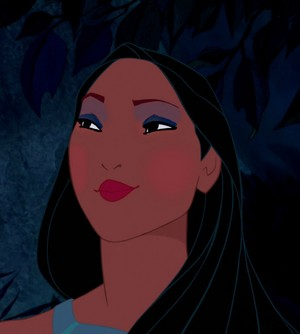Pocahontas' flashy look