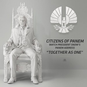 "President Snow Promo Poster ""Mockingjay Part 1"""