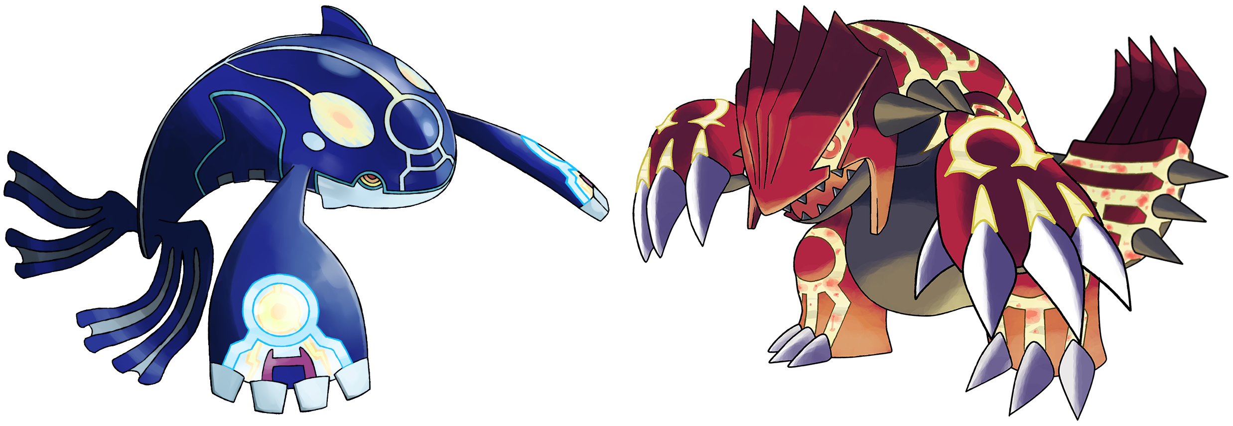 Prime Kyogre and Groudon.